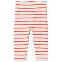 Tinycottons Small Stripes Pant Off-White/Carmine off-white/carmine