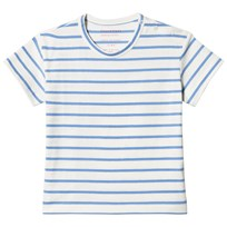 Tinycottons Small Stripes T-shirt Off-White/Cerulean Blue off-white/cerulean blue