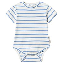 Tinycottons Small Stripes Baby Body Off-White/Carmine off-white/cerulean blue