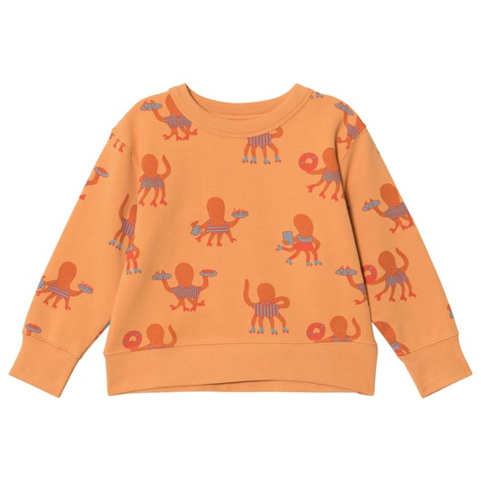 Tinycottons Octopus Sweatshirt Light Brick/Brick/Carmine light brick/brick/carmine