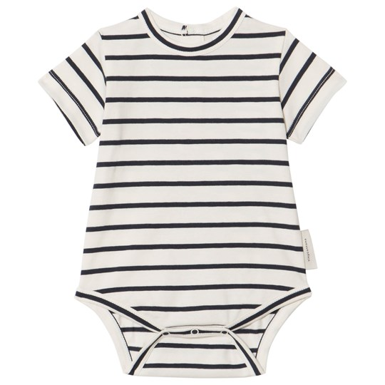 Tinycottons Small Stripes Baby Body Off-White/Navy off-white/navy