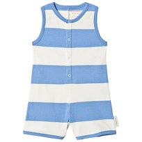 Tinycottons Big Stripes Romper Off-White/Cerulean Blue off-white/cerulean blue