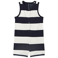 Tinycottons Big Stripes Romper Off-White/Navy off-white/navy