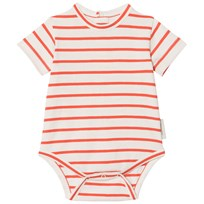 Tinycottons Small Stripes Baby Body Off-White/Carmine off-white/carmine