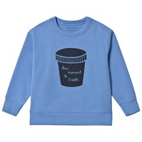 Tinycottons Ice Cream Pot Graphic Sweatshirt Cerulean Blue/Navy cerulean blue/navy