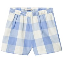 Tinycottons Huge Check Shorts Cerulean Blue/Stone cerulean blue/stone