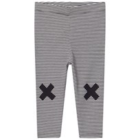 Tinycottons Multi Lines Byxor Off-White/Navy off-white/navy
