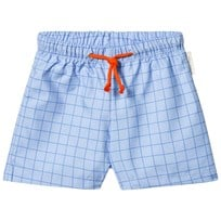 Tinycottons Grid Badshorts Light Cerulean Blue/Cerulean Blue light cerulean blue/cerulean blue