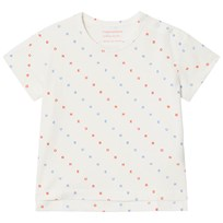 Tinycottons Bonheur Tee Off-White/Cerulean Blue/Carmine off-white/cerulean blue/carmine