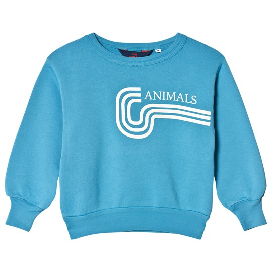 The Animals Observatory Bear Sweatshirt Blue Animals BLUE ANIMALS