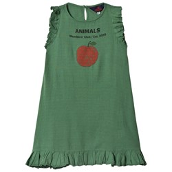 The Animals Observatory Cow Dress Green Peach