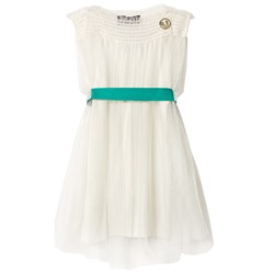 The Animals Observatory Dolphin Dress Raw White
