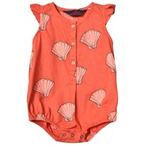 The Animals Observatory Butterfly Romper Red Shells RED SHELLS