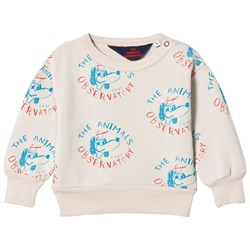 The Animals Observatory Bear Baby Sweatshirt Beige Dogs