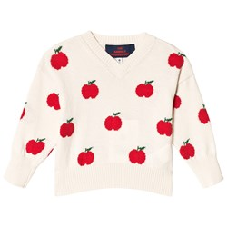 The Animals Observatory Toucan Babies Sweater Red Apple