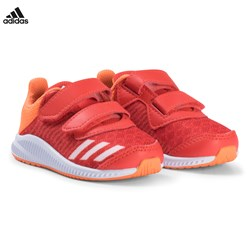 adidas Performance Red and Orange FortaRun Velcro Infants Sneakers