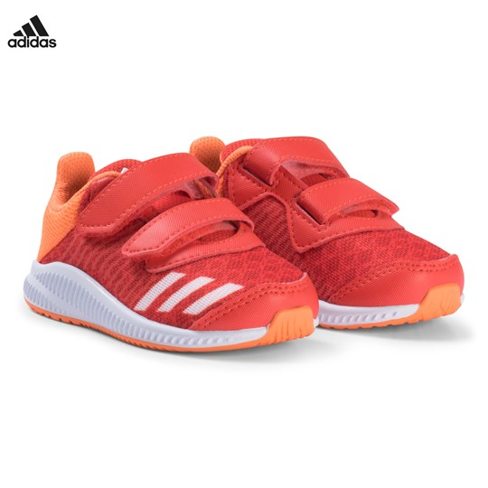 adidas Performance Red and Orange FortaRun Velcro Infants Sneakers HI-RES RED S18/FTWR WHITE/HI-RES ORANGE S18