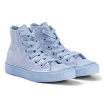 Converse Blue Chill Glitter Chuck Taylor All Star Junior Hi Tops BLACK/WHITE/BLACK