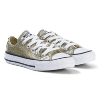 Converse Gold Glitter Rubber Chuck Taylor All Star OX Junior Sneakers BLACK/WHITE/BLACK