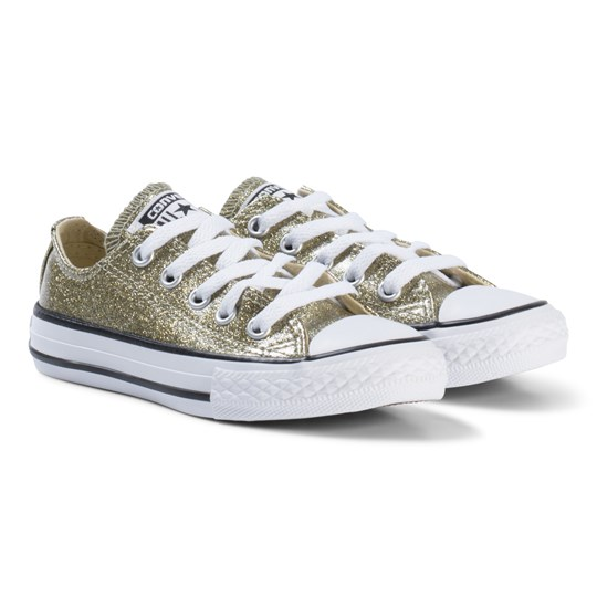 Converse Gold Glitter Rubber Chuck Taylor All Star OX Junior Sneakers BLACK  WHITE BLACK 2c97373bc