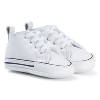 Converse White Chuck Taylor First Star Cribs Booties BLACK/WHITE/BLACK