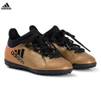 adidas Performance Black, Gold and Red X Tango 17.3 Turf Football Boots TACTILE GOLD MET. F17/CORE BLACK/SOLAR RED