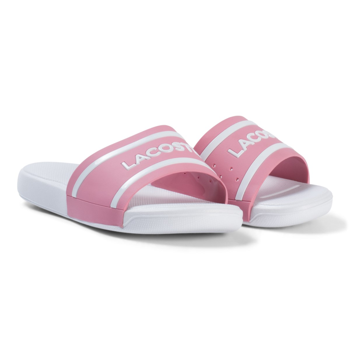 Pink and White Branded Kids Sliders