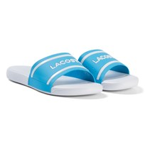 Lacoste Blue and White Branded Junior Sliders Blue/White