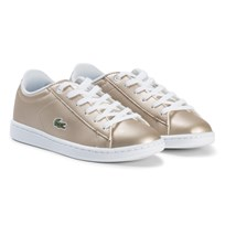 Lacoste Gold and White Carnaby Evo Kids Trainers Gold/White