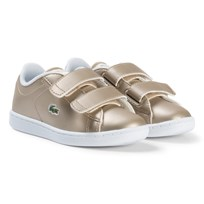 Lacoste Gold and White Carnaby Evo Infant Trainers Gold/White