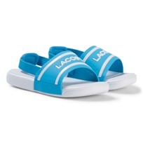 Lacoste Blue and White Branded Infants Sling Back Sliders Blue/White