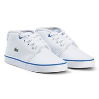 Lacoste White and Blue Ampthill Infant Trainers White/Blue