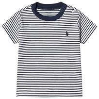Ralph Lauren White and Navy Stripe Tee with PP 001
