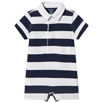 Ralph Lauren Navy and White Stripe Rugby with PP 001