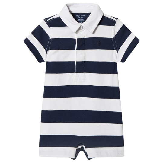 Ralph Lauren Navy and White Striped Cotton Rugby Shortall 001