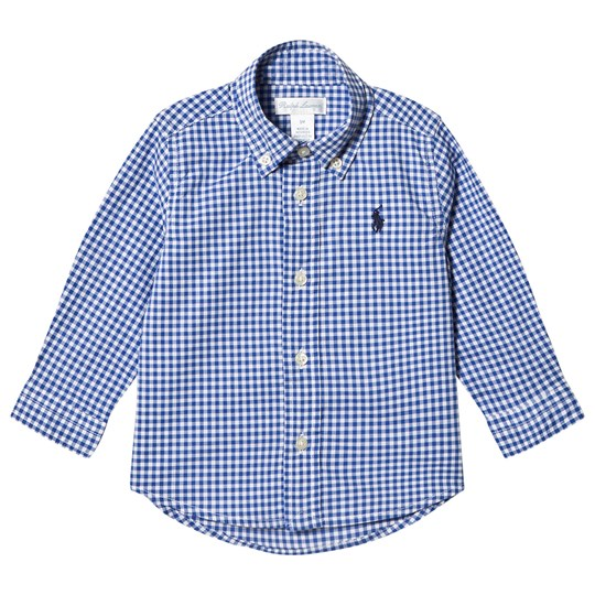 Ralph Lauren Dark Blue Gingham Shirt with PP 001