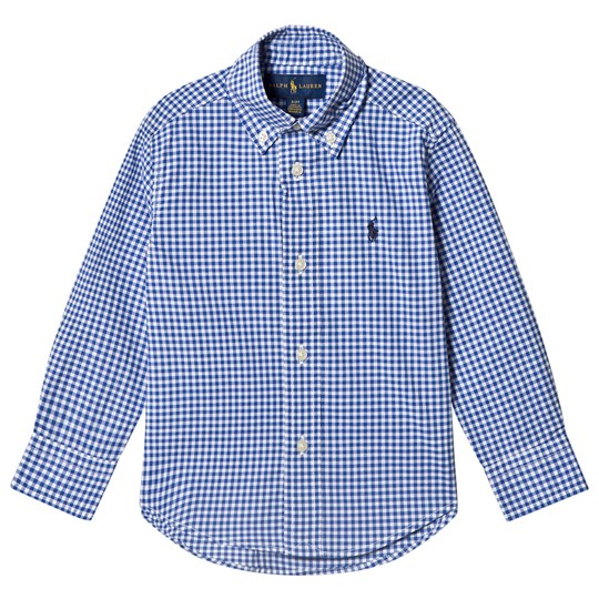 Ralph Lauren Gingham Oxford Shirt Blue 001