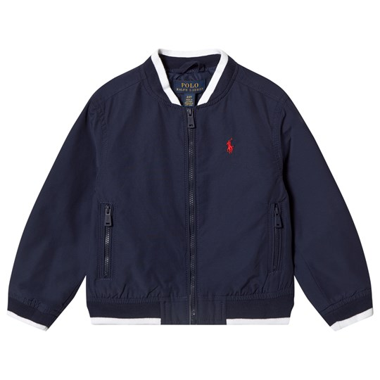 Ralph Lauren Cotton Varsity Jacket Navy 001
