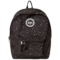 Hype Black & Silver Metallic Branded Backpack BLACK & SILVER
