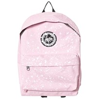 Hype Pink & White Speckle Branded Backpack BABY PINK & WHITE