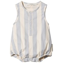 Tinycottons Stripes Romper Stone/Light Cerulean Blue stone/light cerulean blue
