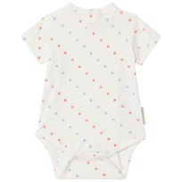 Tinycottons Bonheur Baby Body Off-White/Cerulean Blue/Carmine off-white/cerulean blue/carmine