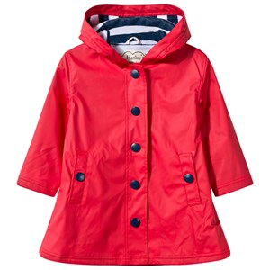 Image of Hatley Red with Navy Stripe Splash Jacket 4 years (495896)