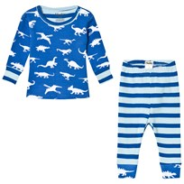 Hatley Blue Dinosaur Menagerie Mini Pyjama Set Blue
