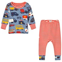 Hatley Blue Rush Hour Mini Pyjama Set blue/orange