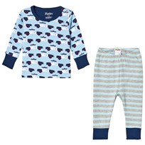 Hatley Blue Cop Cars Mini Pyjama Set Blue
