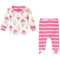 Hatley Pink Ice Cream Treats Mini Pyjama Set Cream/Pink