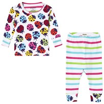 Hatley White Rainbow Ladybirds Mini Pyjama Set White