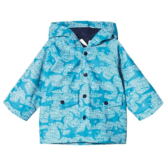 Hatley Blue Shark Alley Mini Raincoat Blue