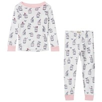 Hatley Free Birds Pyjamas Set Vit White